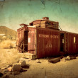Stock Photo: Abandoned Train Car