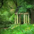 Gazebo in the Forest — Stock Photo