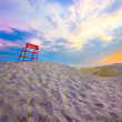 Stock Photo: Beach end of day