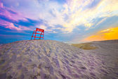 Beach end of day — Stock Photo