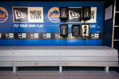 NY Mets Dugout — Stock Photo