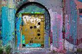 Graffiti Door — Stock Photo