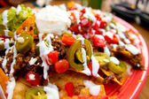Loaded nachos — Stock Photo