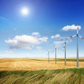 Renewable wind power — Stock Photo