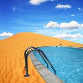 Pool in the desert — Stock Photo