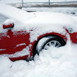 Car covered with snow — Stock Photo