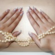 Stock Photo: Female hands with manicure