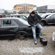 Stock Photo: Looking at the scrap yard