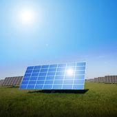 Field area for solar installations — Stock Photo