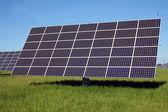 Sistema solar en el prado verde — Foto de Stock
