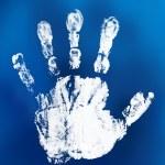 Mystical handprint — Stock Photo