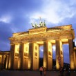 Stock Photo: Brandenburg Gate at night,Berlin
