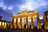 Brandenburg Gate at night,Berlin — Stock Photo