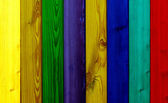 Colored wooden planks — Stock Photo