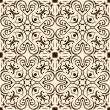 Seamless pattern abstract brown ornament — Stockvectorbeeld