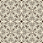 Seamless pattern abstract brown ornament — Stock Vector