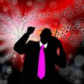 The nostalgia retro musical melody — Stock Photo