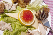 Creative salad — Stock Photo