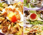 Creative fresh salads — Stock Photo