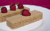Sweet confectionery wafers — Stock Photo