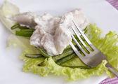 Appetizing marinaded herring — Stock Photo