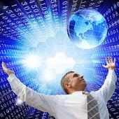 Digital internet technology — Stock Photo