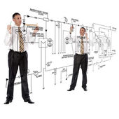 Engineering construction designing — Stockfoto
