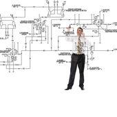 Engineering konstruktion-planung — Stockfoto