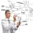 Foto de Stock  : Designing engineering automation system