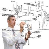 Diseño, ingeniería de sistema de automatización — Foto de Stock