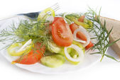 The fresh vegetables salad — Stock Photo