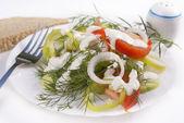 The fresh vegetables salad — Stock Photo