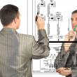 Stock Photo: Engineering automation designing.Teamwork