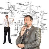 Engineering automation designing.Teamwork — Stock Photo