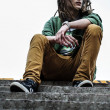 Young man with dreadlocks — Stock Photo #11008699
