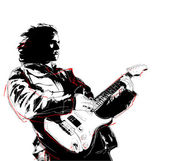 Guitarist — Vector de stock