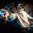 Постер, плакат: DJ in action