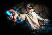 DJ in action — Stockfoto