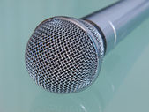 Metallic microphone. — Stock Photo