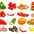 Set of different vegetables.Isolated. — Stock fotografie