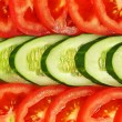 Sliced vegetables.Background. - Foto de Stock
