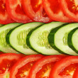 Sliced vegetables.Background. - Stock Photo