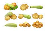 Set of fresh vegetables.Isolated. — Stock Photo