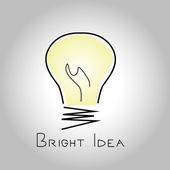 Light bulb with an inscription — Stock Photo