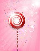 Lollipop Shiny Background Illustration — Stock Vector
