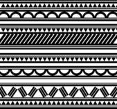 Polynesian Style tattoo bracelet — Stock Vector