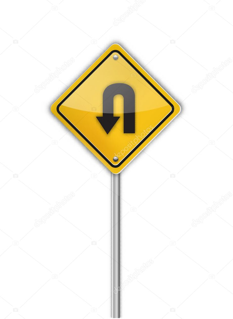 Turn back road sign,  illustration — Stock Vector #11580919