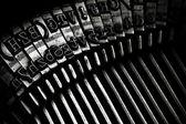 Teclas de máquina de escribir antigua — Foto de Stock