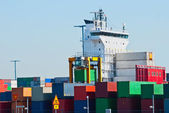 Port. Container. — Stock Photo