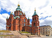 Uspensky kathedraal in helsinki. — Stockfoto